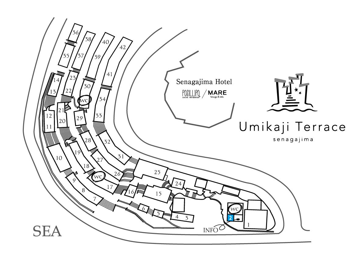 ウミカジテラスFMとよみ83.2 サテライトスタジオのフロアマップ