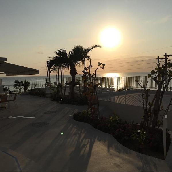 Senaga Island pus rudder terrace sunset